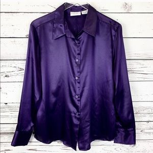 Jaclyn Smith Classic Satin Blouse